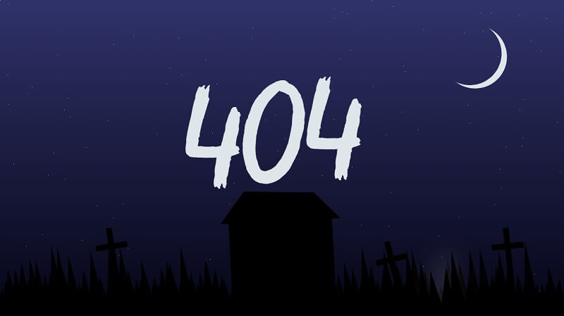 Spooky 404 Graveyard