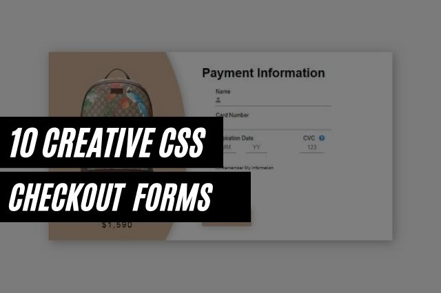 CSS Checkout Forms