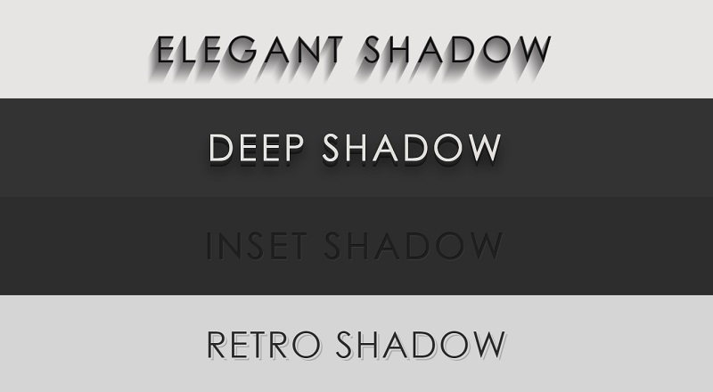 CSS3 Text Shadow Effects