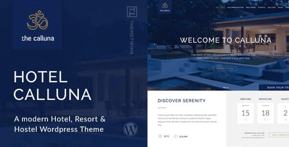Calluna Hotel Theme For WordPress