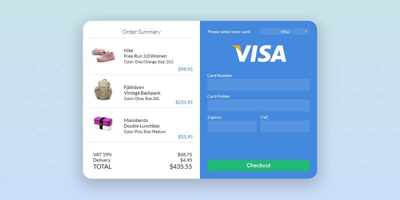 Credit Card CSS Checkout Forms