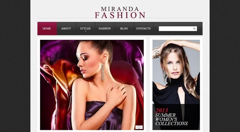 Miranda Fashion Drupal Theme
