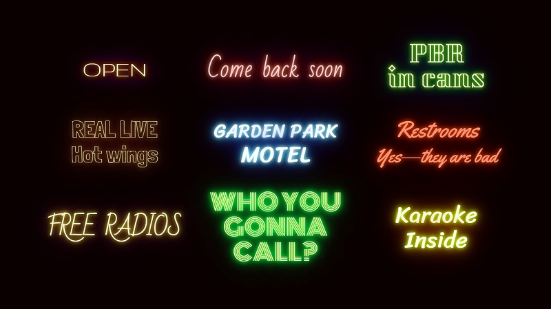 Neon Text Shadow Effect