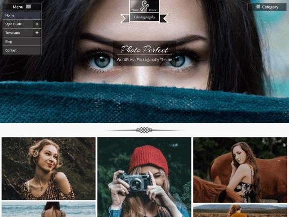 Photo Perfect Free Photography Theme For WordPress