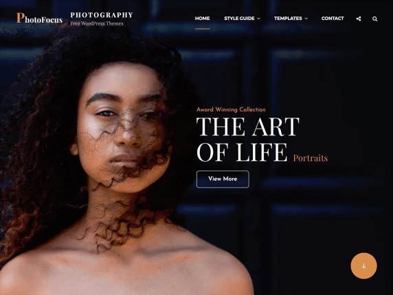 PhotoFocus Free Photography Theme For WordPress