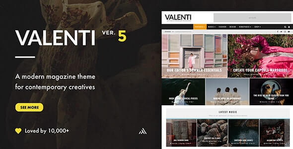 Valenti Magazine Theme For WordPress