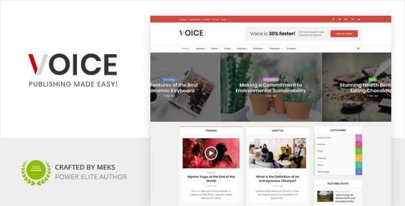 Voice Magazine Theme For WordPress