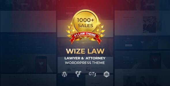 WizeLaw Lawyer WordPress Theme