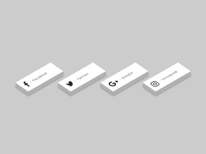 3D CSS Social Tiles