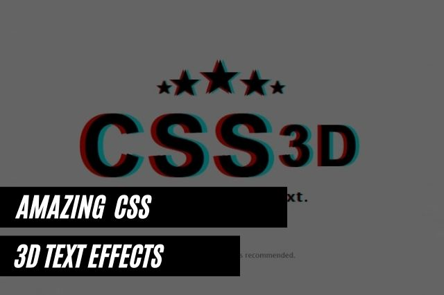 CSS 3D Text Effects