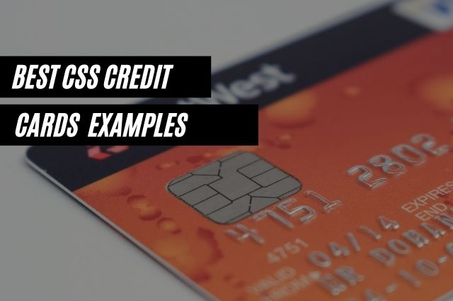 Best CSS Credit Cards Examples