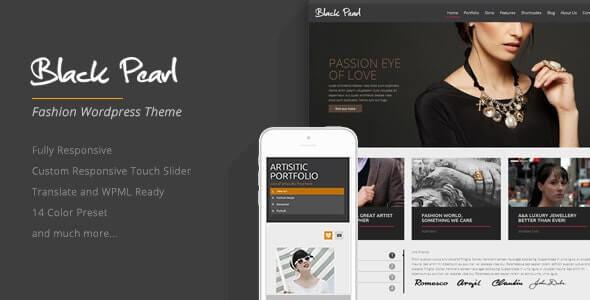 Black Pearl Fashion Theme For WordPress
