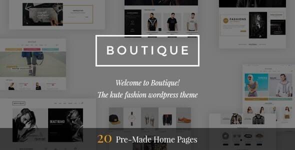Boutique Fashion Theme For WordPress