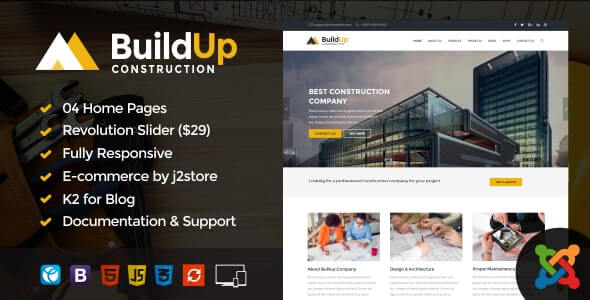 Buildup Construction theme for joomla