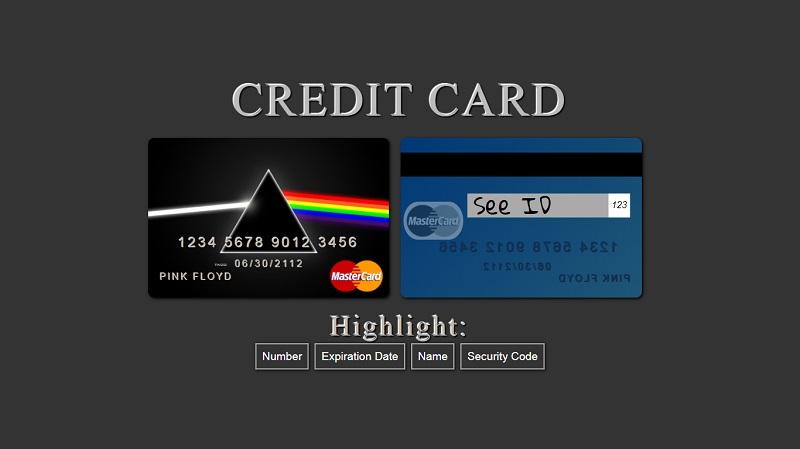 CSS Credit Card