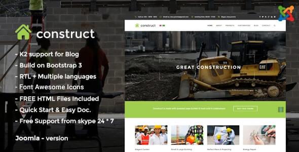 Construct Joomla Theme For Construction