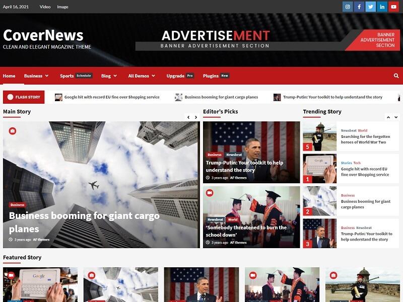 CoverNews Free Newspaper Theme