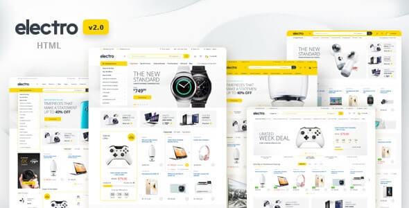 Electro Ecommerce HTML Website Template
