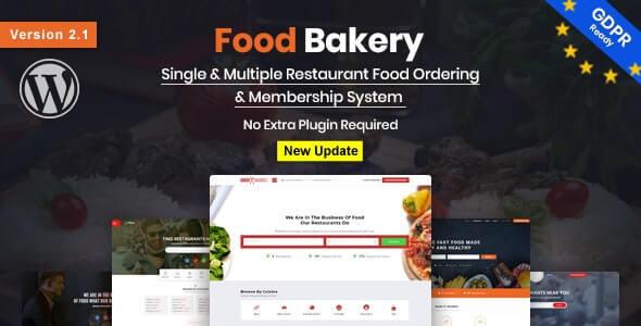 FoodBakery Restaurant Theme For WordPress