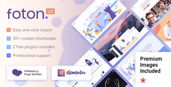 Foton Landing Page Theme For WordPress