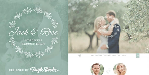 Jack Rose Wedding Theme For WordPress