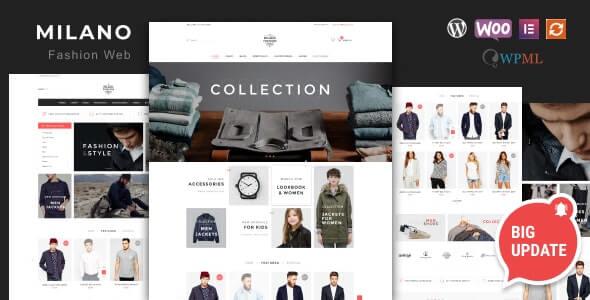 Milano Fashion Theme For WordPress