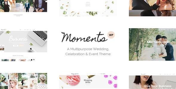 Moments Wedding Theme For WordPress
