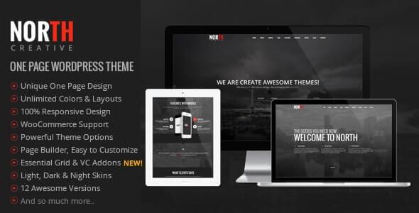 North Parallax Theme For WordPress
