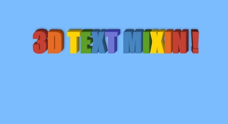 SCSS 3D Text Mixin