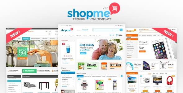ShopMe Ecommerce HTML Template