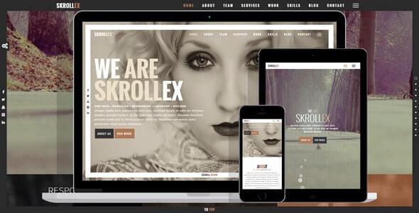 Skrollex Parallax Theme For WordPress
