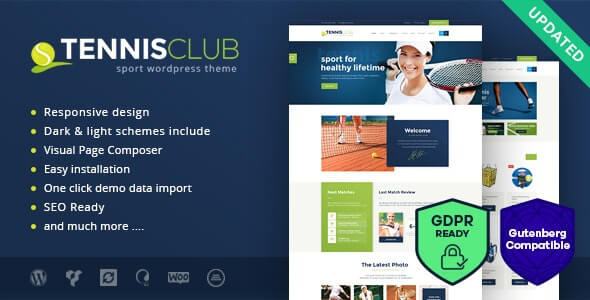 Tennis Club Sports Theme For WordPress