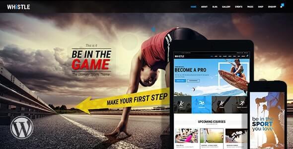 Whistle Sports WordPress Theme