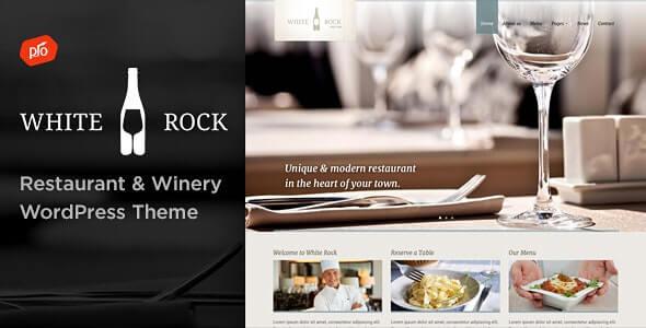 White Rock Restaurant WordPress Theme