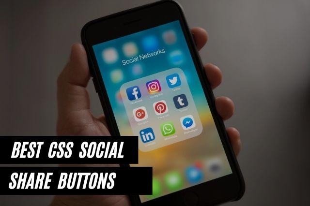 Best CSS Social Share Buttons