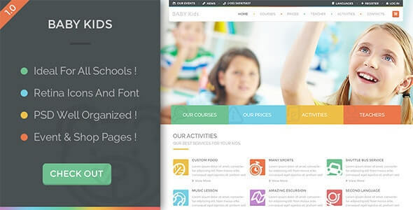 Baby Kids Education HTML Template