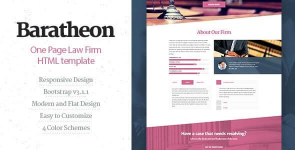 Baratheon Lawyer HTML Template