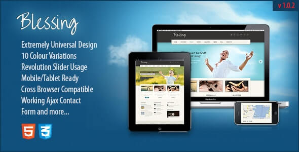 Blessing Charity website template