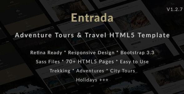 Entrada Travel HTML Template