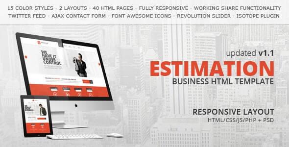 Estimation Business Html Template