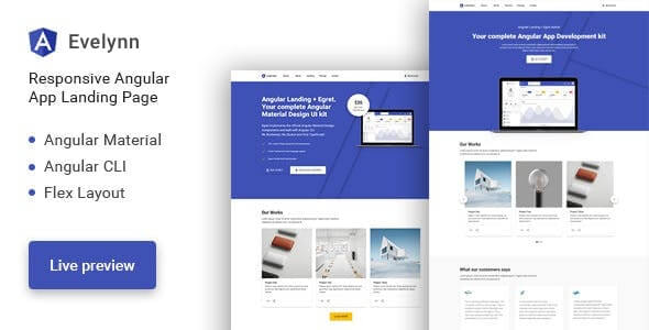 Evelynn Landing Page HTML Template