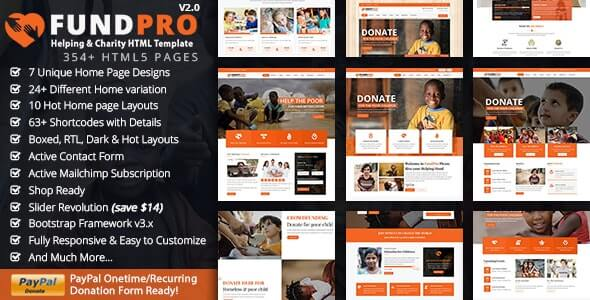 Fundpro Charity HTML Template