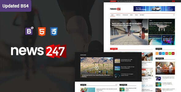 News247 HTML Template For Magazine Site
