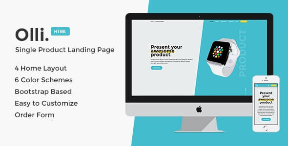 Olli Landing Page HTML Template