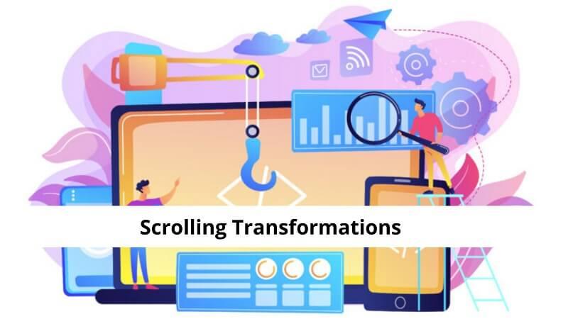 Scrolling Transformations