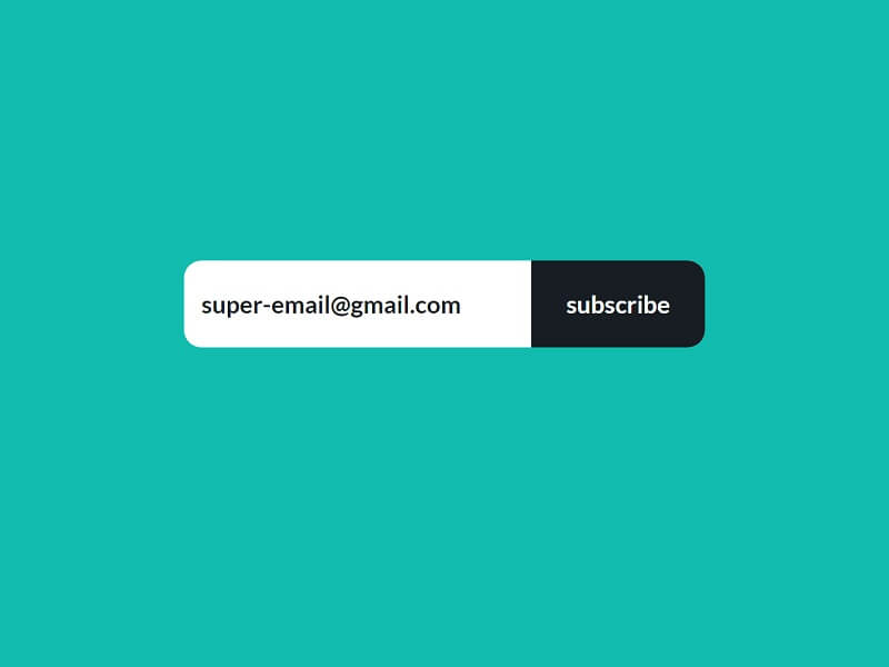 CSS Subscribe Forms Animation