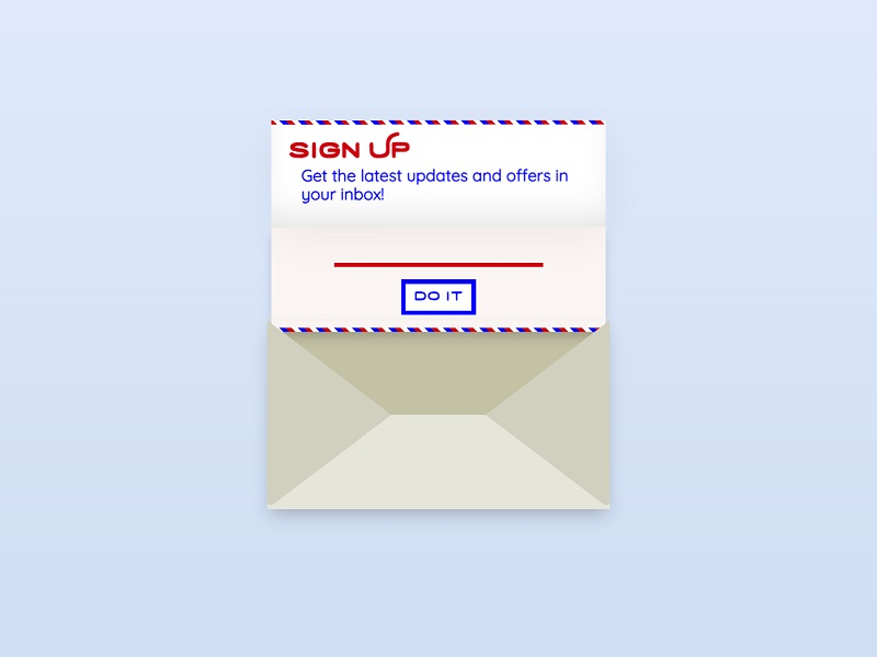 CSS Subscribe Forms UI