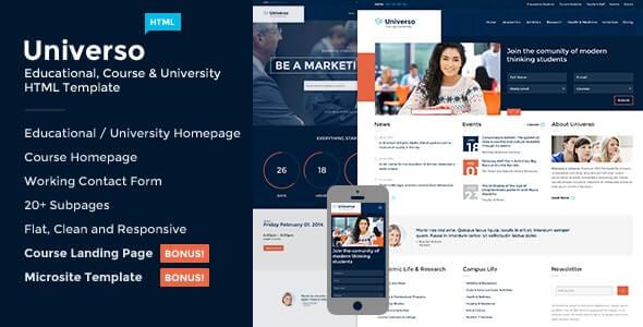 Universo Education HTML Template