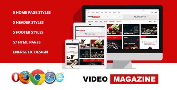 Video Magazine HTML Template
