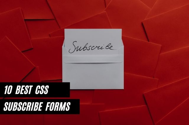 Best CSS Subscribe Forms